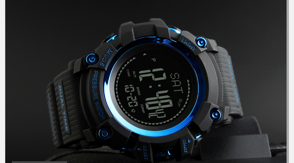 Topdudes.com - Men's Digital Sports Wrist Watches for Mountain Lovers