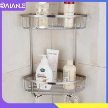 Stainless Steel Single & Double bathroom accessories shelf basket single tier big Bathroom Shelves
