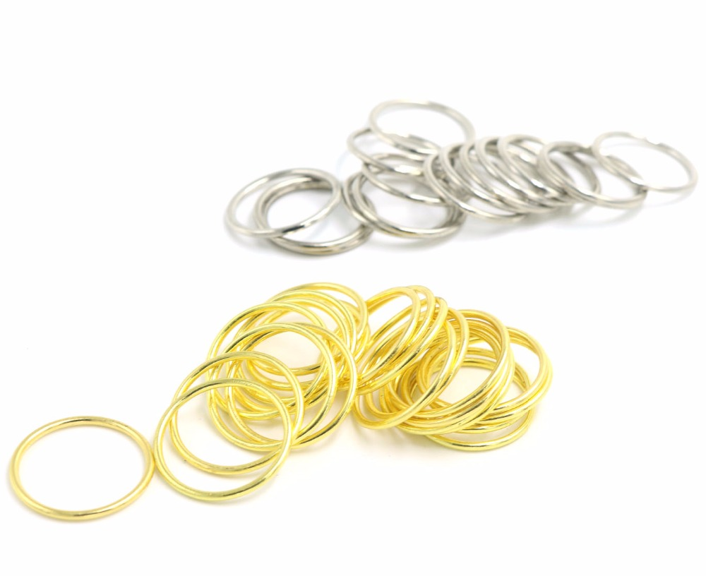 Wholesale 500pcs Size 20mm Golden silver Color High Quality Plated Metal Bra Strap Adjuster ring