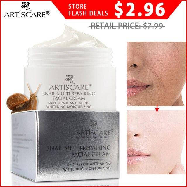 Crema Facial de reparación de Caracol de ARTISCARE para el cuidado de la piel Facial Aniti