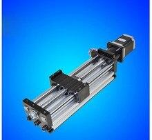 1610 ЧПУ Руководство модуль 80*50 раздвижной стол 500 мм полезные ход поршня 1610 ballscrew nem 23 шаговый двигатель