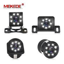 Mekede 8 led visão noturna câmera de visão traseira do carro grande angular hd imagem colorida à prova dwaterproof água universal backup reversa estacionamento câmera