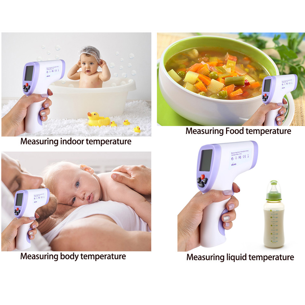 IR Infrared Body Thermometer Baby Body Water Food Temperature Meter Digital Laser LCD Handheld Non-Contact Thermometer az 8838 handheld 40 to 280c haccp ir infrared food thermometer