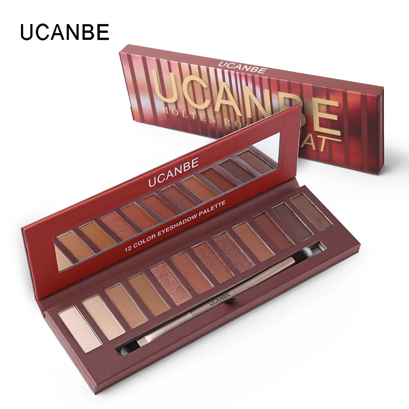 New Arrivals UCANBE Eye Makeup HEAT Matte Eyeshadow Palette Shimmer Eye Shadow Nude 12 Color Make Up Palette eye shadow
