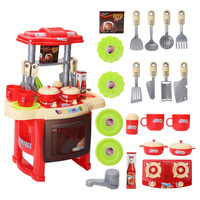 Kitchen Kids Cooking Pre school Toys Cook Play Set for Children Boys Girls Gift