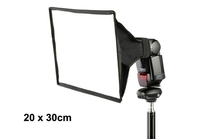 Камера вспышка светильник Диффузор софтбокс 20x30 см складной для Canon 600EX 580EX 430EX YN560 SBB900 SB800 SB600 Универсальный Блестящий диффузор