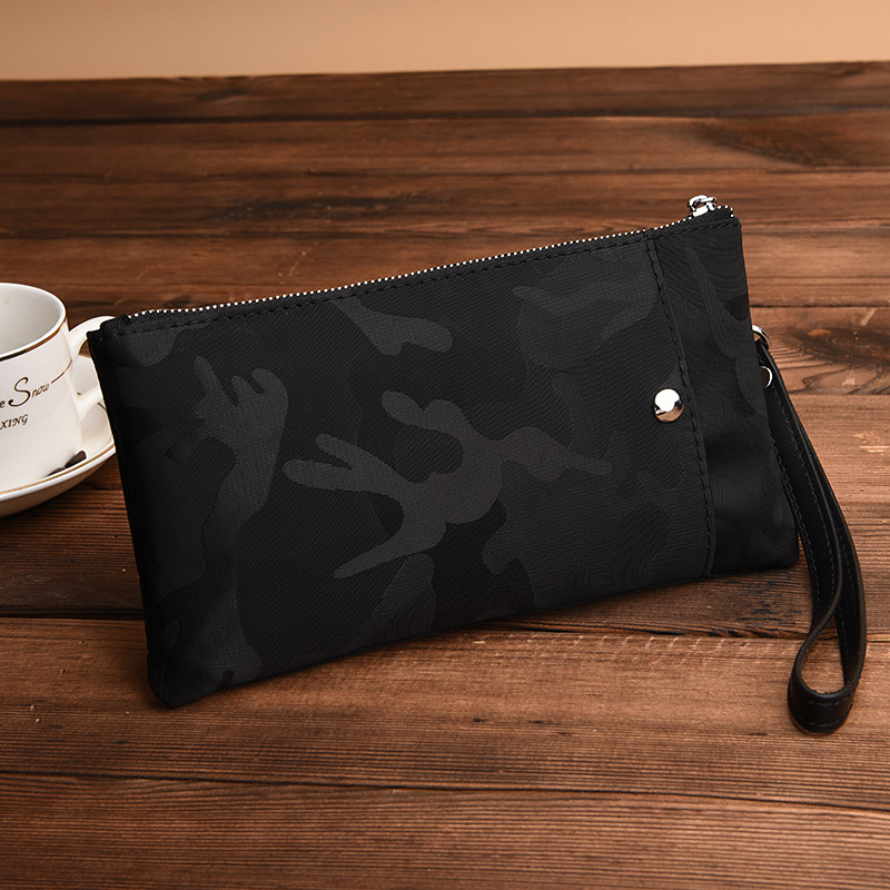 New Pattern Camouflage Oxford Long Clutch Wallet For Men Male Mobile Phone Casual Wallets And Zipper Coin Purses Organizer Bag fashionable camouflage pattern corduroy jazz hat for men