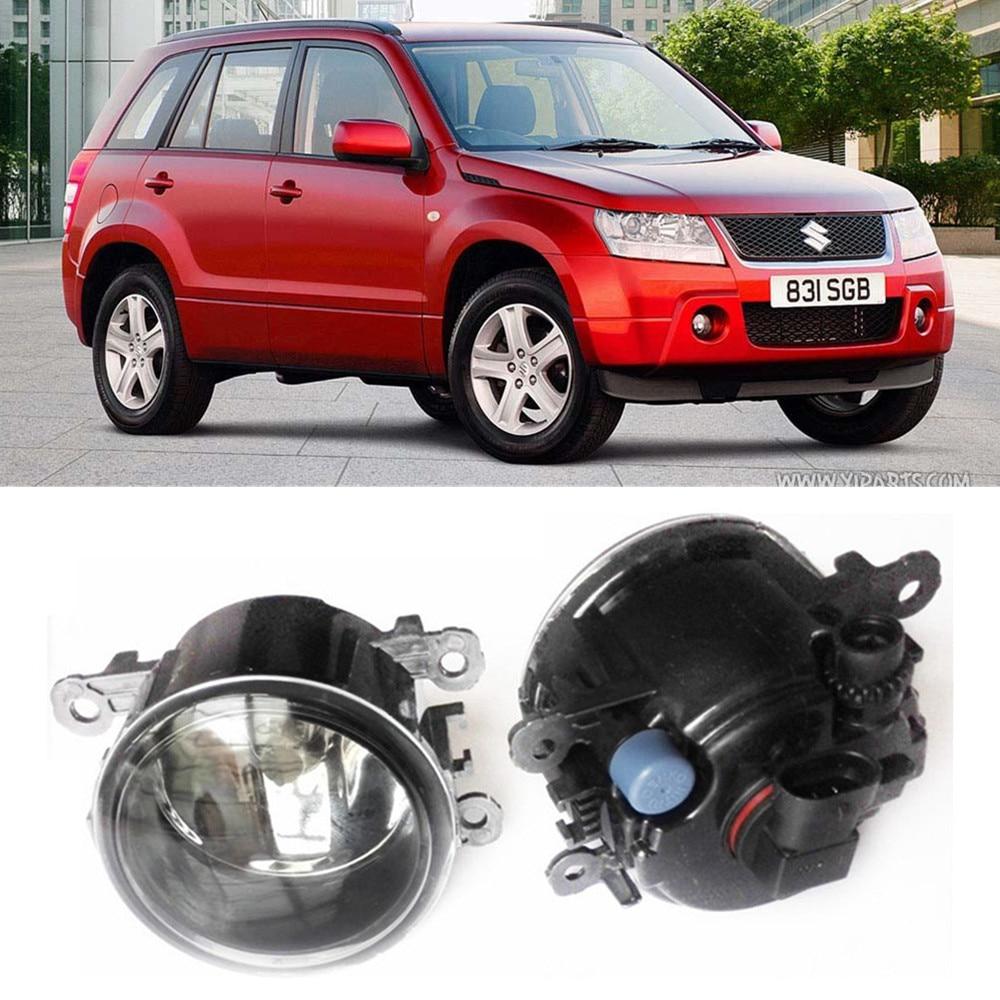 For Suzuki Grand Vitara 2 Closed Off-Road Vehicle JT  2005-2015 Car styling Fog Lamps halogen Fog lights 1SET for suzuki sx4 gy hatchback 2006 2012 car styling fog lamps halogen fog lights 1set