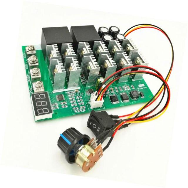 WS16 تيار مستمر 10 55 فولت 12 فولت 24 فولت 36 فولت 48 فولت 55 فولت 100A موتور سرعة تحكم PWM HHO RC عكس التحكم التبديل مع LED العرض