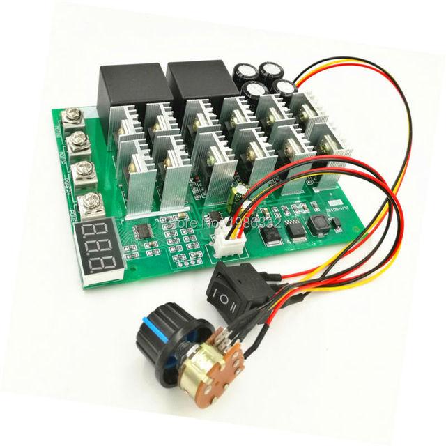 Ws16 dc 10 55ボルト12ボルト24ボルト36ボルト48ボルト55ボルト100aモータースピードコントローラpwm hho rc逆制御スイッチでled表示
