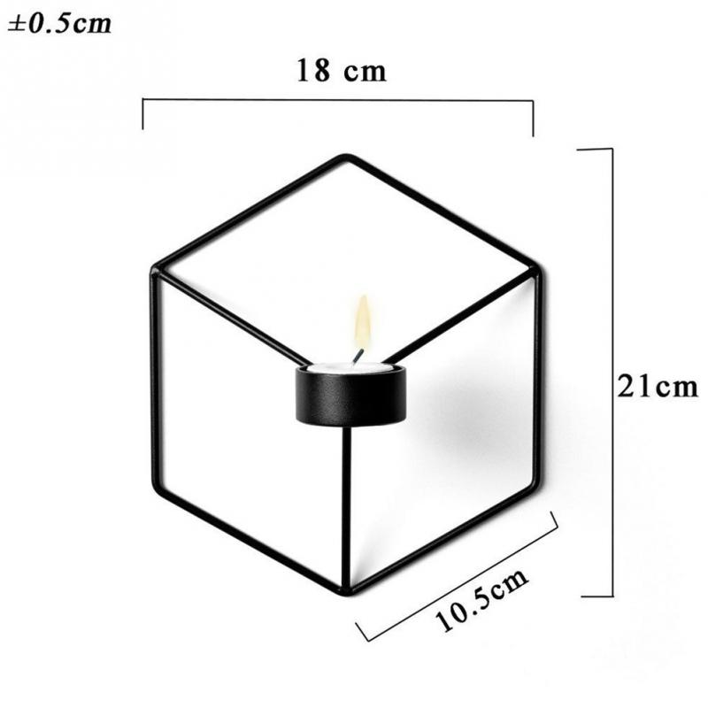 Nordic Стиль 3D геометрический Подсвечник металл настенный подсвечник бра Home Decor