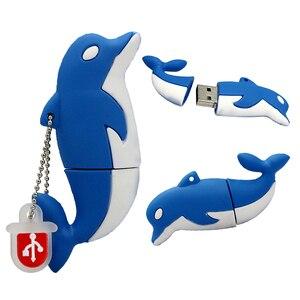 Image 3 - ペンドライブの漫画の動物サメ魚の Usb フラッシュドライブ 4 ギガバイト 8 ギガバイト 16 ギガバイト 32 ギガバイト 64 ギガバイト 128 ギガバイトイルカ USB フラッシュメモリスティックディスクペンドライブ