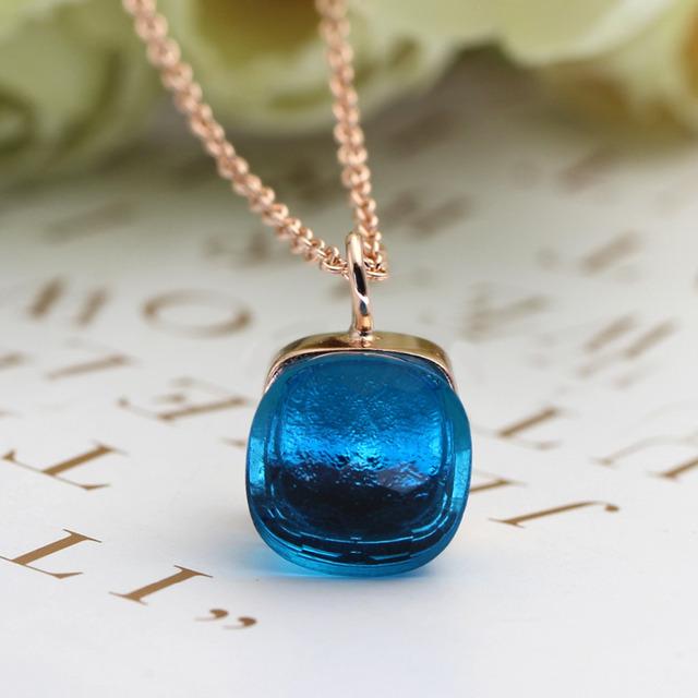 Kryštálový náhrdelník Crystal Pendant Necklace 8colors
