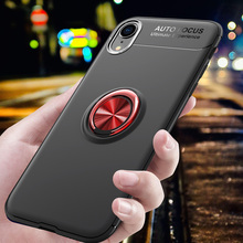Bumper on for iPhone XS Case Cover Max Car Holder Stand Finger Ring Silicone shockproof XR case