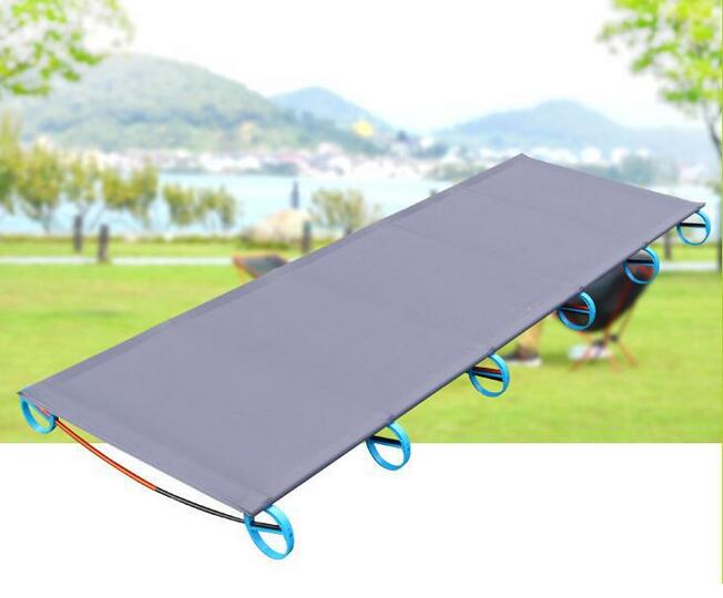 Outdoor Portable Camping Folding Bed Outdoor Folding Bed Ultralight Single Bed 180cm Length