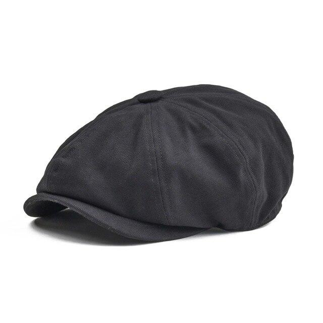 BOTVELA Newsboy Cap Men Women Eight-panel Hat Canvas Cotton Beret Baker Boy  Caps Retro Apple Hats Flat Ivy Boina 004 d7fa15e5e4c