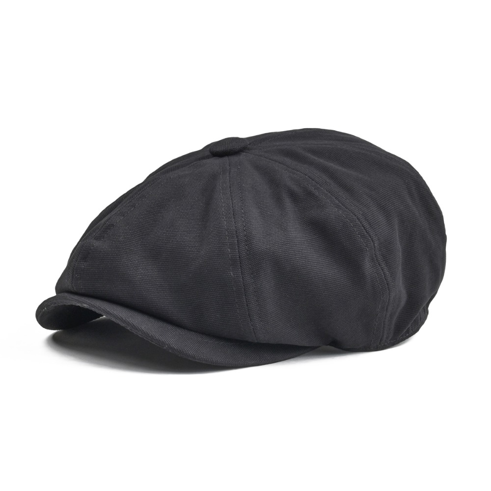 BOTVELA Newsboy Cap hombres mujeres ocho panel de lona sombrero algodón Beret Baker Boy gorras Retro manzana sombreros hiedra plana boina 004