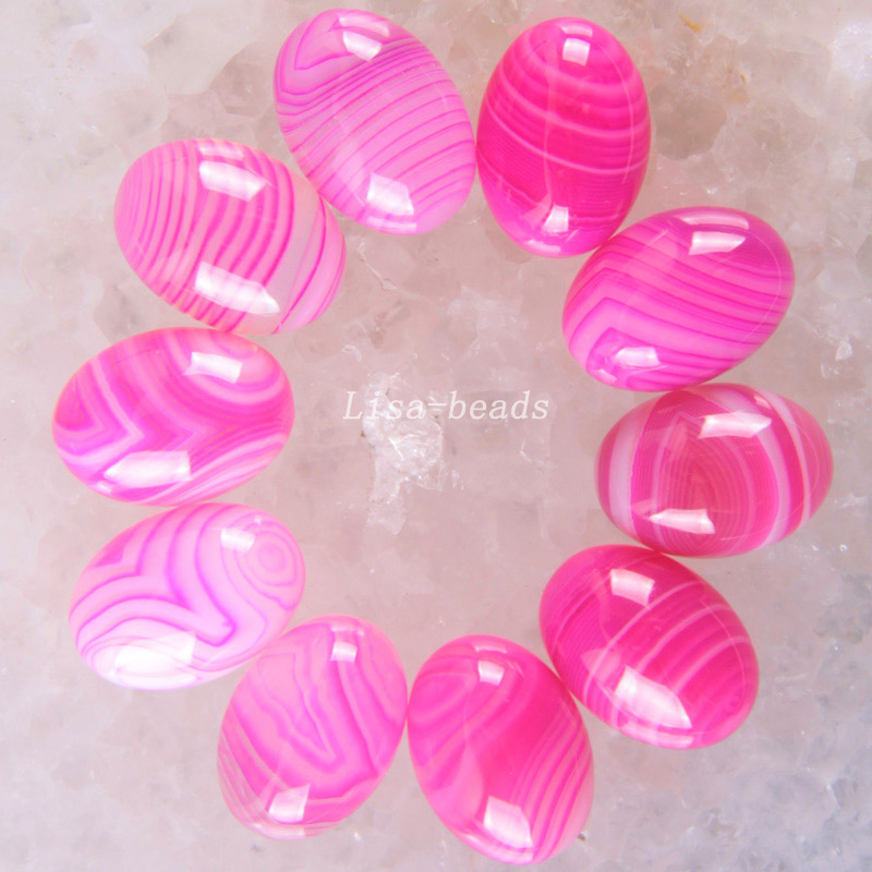 Free Shipping New without tags Fashion Jewelry 13x18MM Natural Rose red Veins Onyx CAB Cabochon 10Pcs RK1617