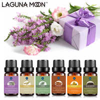 Lagunamoon Pure Essential Oils 10ML Diffuser Massage Ginger Rose Peppermint Peppermint Lemon Rosemary Patchouli Sandalwood Oil