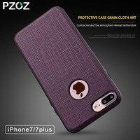 Pzoz Case For Iphone 7 Luxury Fabric Original Back Cover For Apple Iphone 7 Plus