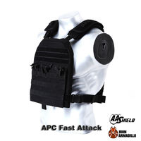 APC Armadillo Plate Carrier Ballistic Tactical Molle Gear Body Armor 10X12 Black Bullet Proof Vest IIIA