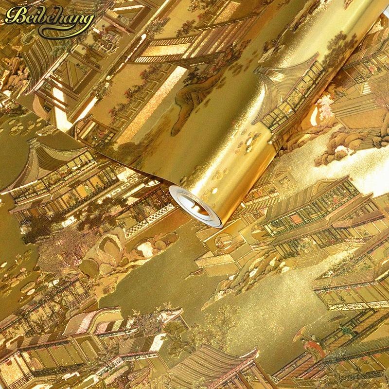 beibehang Luxury Floral Wall paper Modern Gold Wallpaper For Walls Papel De Parede Wallpaper Roll Tapete Vinyl Wall paper roll росмэн пальчиковые раскраски с наклейками зайчик