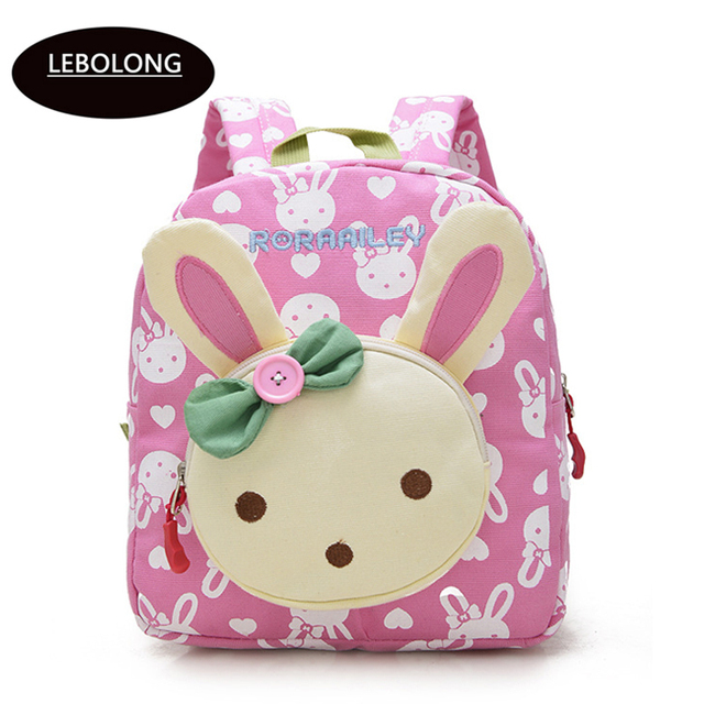 kid backpack cute cartoon little rabbit bear baby kindergarten bag