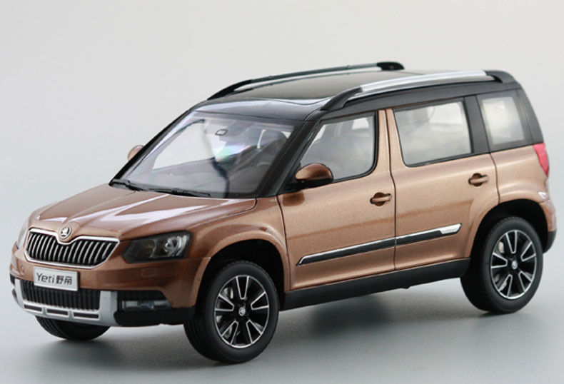 1 18 diecast modell f r skoda yeti 2015 kupferfarben suv. Black Bedroom Furniture Sets. Home Design Ideas