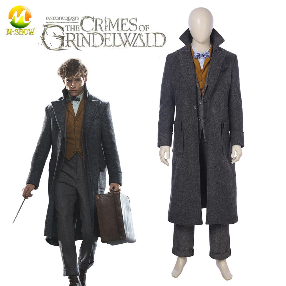 Fantastic Beasts Cosplay Costume The Crimes of Grindelwald Newt Scamander Cosplay Halloween Costumes Cosplay Suit