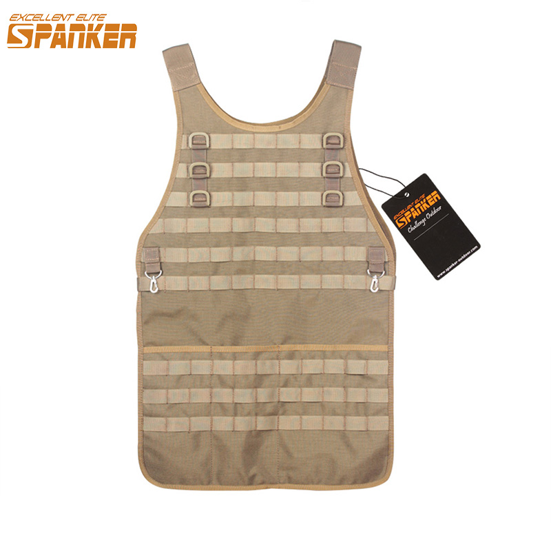 EXCELLENT ELITE SPANKER Outdoor Military Hunting Molle Vests Repairman & Craft Multi use Apron Versatile Tactical Equipment