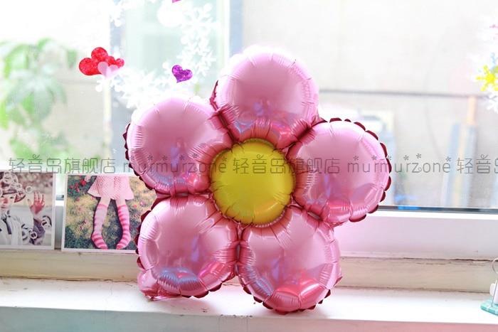 5st / lot 35cm Flerfärg blomma ballonger Flerfärg Ballonger Party - Semester och fester - Foto 5