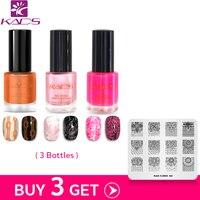 KADS Mua 3 Nhận Được 1 Món Quà 9.5 ml hai in one nail stamping ba lan với nail stamping stamp tấm đối với nail art set