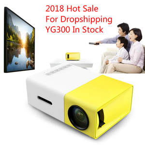 HDMI YG300 Mini Portable Projector LCD Proyector Dropshipping USB AV SD 400-600