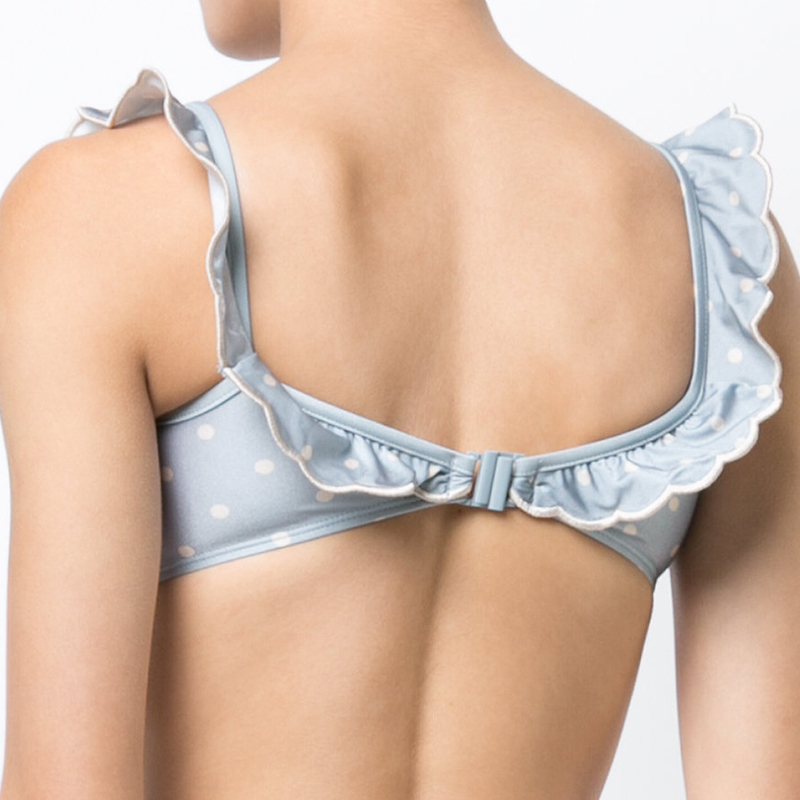 Dot ruffled Bikini Set Strappy Swimwear Women Sexy Swimsuit Summer Bathing Suit Padded Hot Vintage Girl Swimming Suit 2019 3