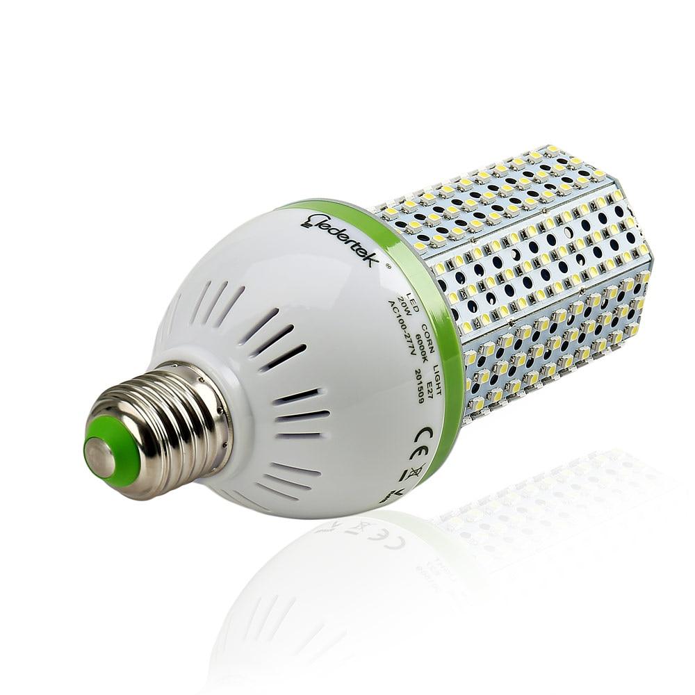 lederTEK 20W E27 LED Corn Light 6000k Energy Saving High Power LED Light to Replace the Conventional CFL Bulb 70w fast delivery toika 2pcs lot 80w100w120w e27 base aluminum corn light high power led bulb outdoor smd5730 waterproof using