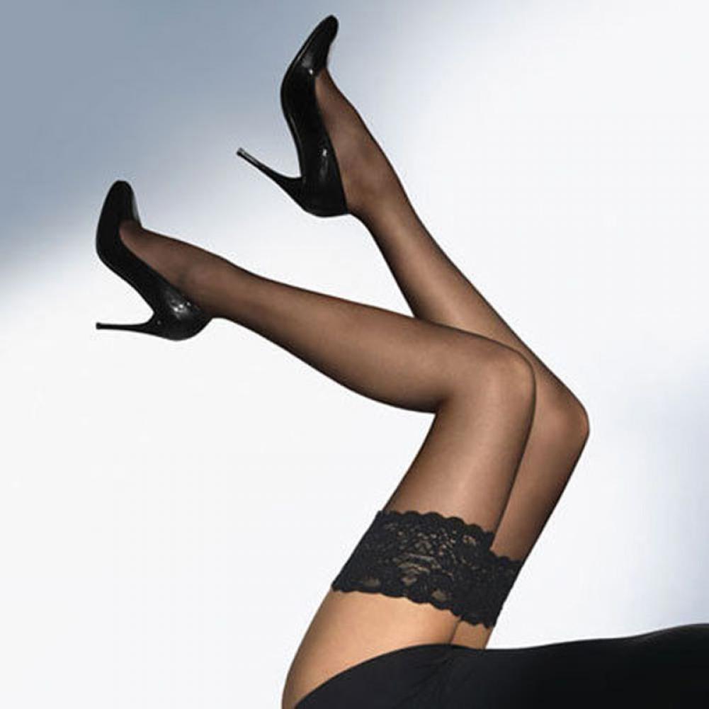 Fashion 1 Pair Ladies Women Sexy Lace Flower Thigh High Elastic Stockings Pantyhose Nightclub