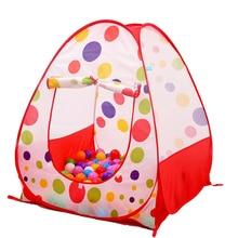 Большой Портативный детская игровая палатка океан шары бассейн яма дети Крытый открытый садовый домик игрушка Рождественский подарок для мальчиков Обувь для девочек Приключения игровая палатка