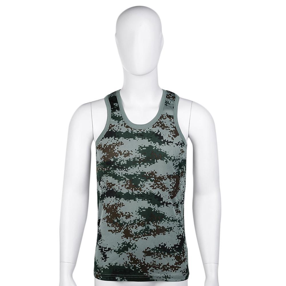 Fashion Camouflage Military Breathable Elastic Bodybuilding Men   Tank     Top   Vest hot