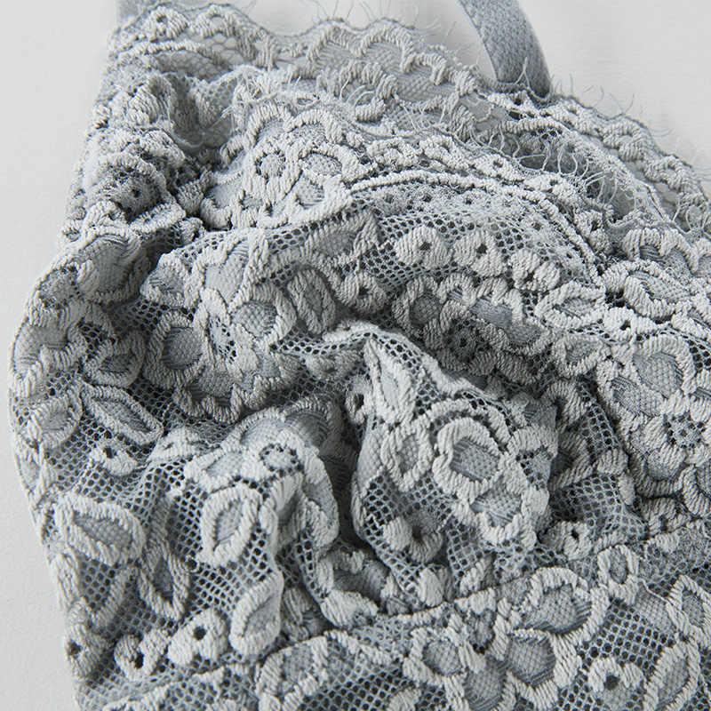 Shaonvmeiwu laço halter colete tipo uma peça sutiã sem anel de aço fina cinto peito almofada bonita volta