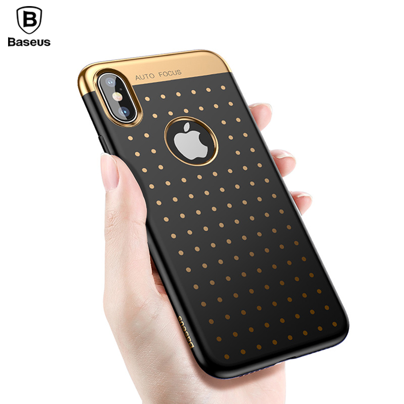 Baseus Luxury Phone Case For iPhone X 10 Soft TPU Electroplating Polka Dot Cover Case For iPhoneX Coque Fundas Capa Phone Bumper