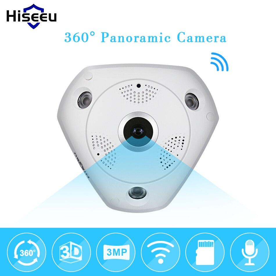 bilder für Hd 3.0mp wifi panorama-kamera 360 grad e-ptz fisheye netzwerk ip cctv-kamera video lagerung remote ir-cut onvif audio hiseeu