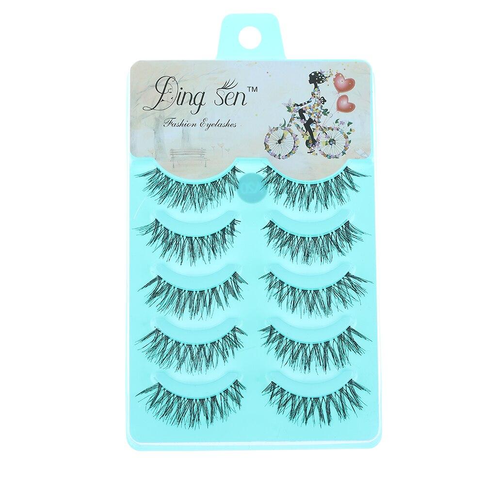 5 Pairs/set Soft Long Cross Natural False Eyelashes Handmade Charming Eye Lashes Extension Beauty Makeup Tools