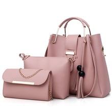 2019 New Fashion Womens Handbags 2 Pcs/set Composite Bags Lady Shoulder Female Totes Large Capacity Crossbody