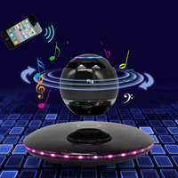 Portable Magnetic Floating Speaker Wireless Stereo Rotating 360 Degree Speakers Magnetic Levitation Wireless Bluetooth Speaker