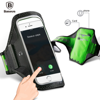 Baseus Sport Running Armband Waterproof Arm Band Cover Case For iPhone 7 6 6s Xiaomi Samsung S8 Card Brassard Gym Armband Pouch