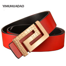 New Designer high layer easy buckle Real leather-based belts for Males Strap male denims girls waist feminine luxurious belt top quality