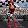 Черный Красный Sexy Racer Костюм Девушки Хэллоуин Костюмы Для Взрослых Карнавал Косплей Одежда Спорт Необычные Платья Женщины Ролевая Игра Одежда
