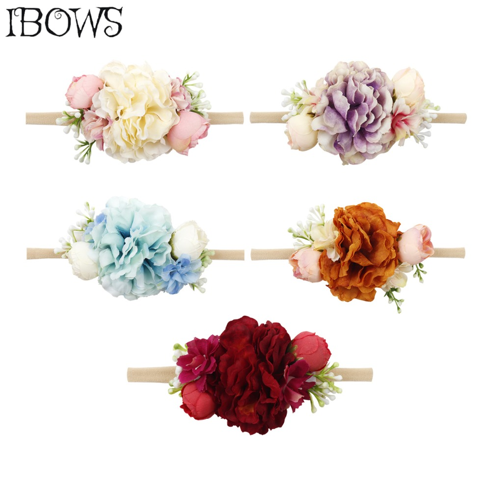 2019 New Arrivals Newborn Flower Headbands Photography Props Girls Rose Flower   Headwear   Newborn Hair Bands Hair Accessories