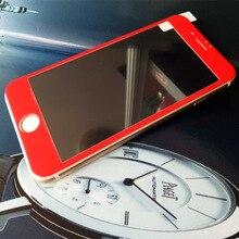 2 шт. в одном коробке Sinzean Глянцевая Углеродного Волокна 3D покрыты закаленное Стекло-Экран Протектор Для iphone 7/7 plus углеродного волокна
