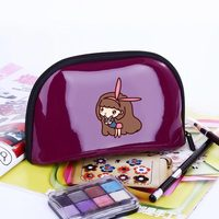New Fashion Multifunctional Women Cartoon Cosmetic Bag Portable Storage Travel High Quality Patent Leather Makeup Bag